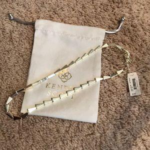 NWT Kendra Scott gold Leon collar necklace